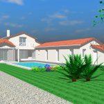 Dessin maison contemporaine Sud-Loire API Partner